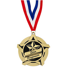 Star Performer Academic Star Medal with Free  Neck Ribbon