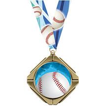 Baseball Medal - Baseball Diamond Medal