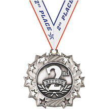 2nd Place Ten Star Silver Medal with Ribbon