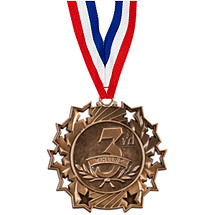 3rd Place Ten Star Bronze Medal with Ribbon