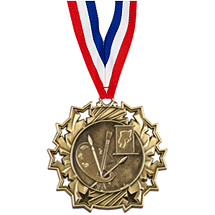 Art Ten Star Gold Medal with Ribbon