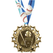 Baseball Medal - Baseball Ten Star Gold Medal