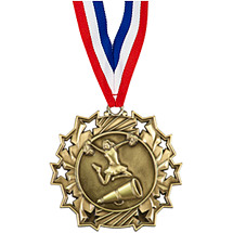 Cheer Medal - Cheer Ten Star Gold Medal