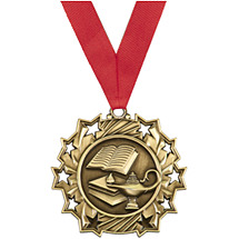 School Medal - Lamp of Learning Blast Medal