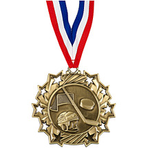 Hockey Medal - Hockey Ten Star Gold Medal