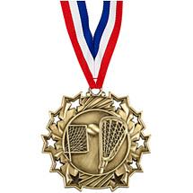Lacrosse Medal - Lacrosse Ten Star Gold Medal