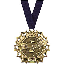 Music Medal - Music Ten Star Gold Medal