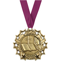 Religious Medal - Religious Ten Star Gold Medal