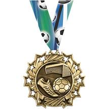Soccer Medal - Soccer Ten Star Gold Medal