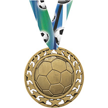 Soccer Star Circle Medal