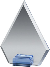 "5 x 6 1/2"" Triangle Glass Award"