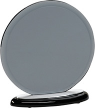 "7 1/2 x 8"" Round Gray Glass Award"