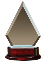 "5 x 8"" Triangle Glass Award"