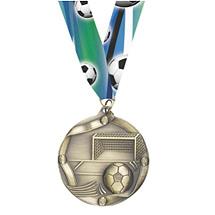 Soccer Medals - Antique Gold Soccer Medal
