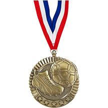 """Soccer Medal - 2 3/4"""" Soccer Star Medal with Ribbon"""