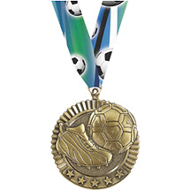 Soccer Medal - Soccer Star Medal with Ribbon