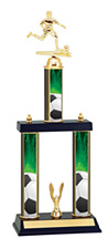 Soccer Trophy - Three Column Trophy