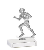 "5 1/2"" Silver Participation Trophy with Marble Base"