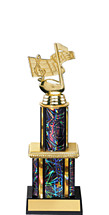 Dazzling Black Trophy with Twin Column