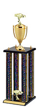 "31"" Large Dazzling Black Round Column Trophy"