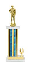 "13-15"" Blue Trophy with 1 Eagle Base"