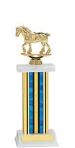 "12-14"" Blue Trophy with Rectangular Column"