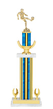 """19-21"""" Blue Trophy with Wreath Riser"""