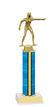 "10-12"" Blue Trophy with Round Column"