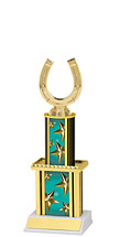 "12"" Teal Star Trophy with Twin Column"