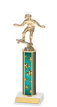 "10-12"" Teal Star Trophy with Round Column"