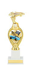 "Derby Trophy - 12 3/4"" Large Pinewood Derby Triumph Riser Trophy"