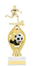 "Soccer Trophy - 11 1/2"" Medium Soccer Triumph Riser Trophy"