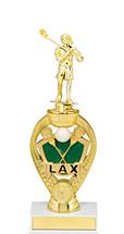 """Lacrosse Trophy - 10 3/4"""" Small lacrosse Triumph Riser Trophy"""