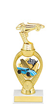 "Derby Trophy - 10 3/4"" Small Pinewood Derby Triumph Riser Trophy"
