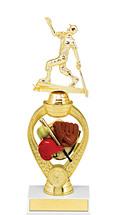 "Softball Trophy - 10 3/4"" Small Softball Triumph Riser Trophy"
