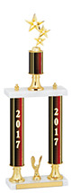 "20-22"" 2017 Double Column Dated Gold Trophy"