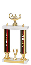 "15-17"" 2017 Dated Gold Double Column Trophy"