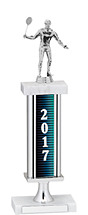 2017 Trophy with Rectangular Column - 14-16""