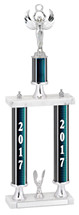 2017 Trophy with Double Column Base - 20-22""