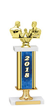 2018 Gold Dated Trophy with Rectangular Column - 14-16""