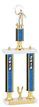 "20-22"" 2018 Double Column Dated Gold Trophy"