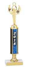 """12-14"""" 2018 Pedestal Riser Dated Gold Trophy"""