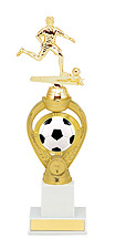Soccer Trophy - Large Soccer Triumph Riser Trophy