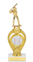 Baseball Trophy - Small Baseball Triumph Riser Trophy