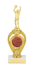 Basketball Trophy - Small Basketball Triumph Riser Trophy