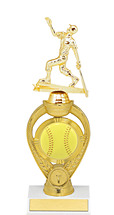 Softball Trophy - Small Softball Triumph Riser Trophy