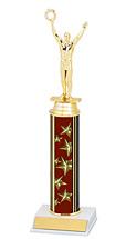 "10-12"" Maroon Star Trophy with Round Column"