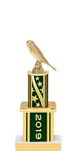 """2019 Green Trophy with Twin Column - 12"""""""