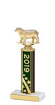 "2019 Round Column Dated Gold Trophy - 10-12"""