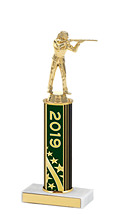 2019 Round Column Dated Gold Trophy - 10-12""